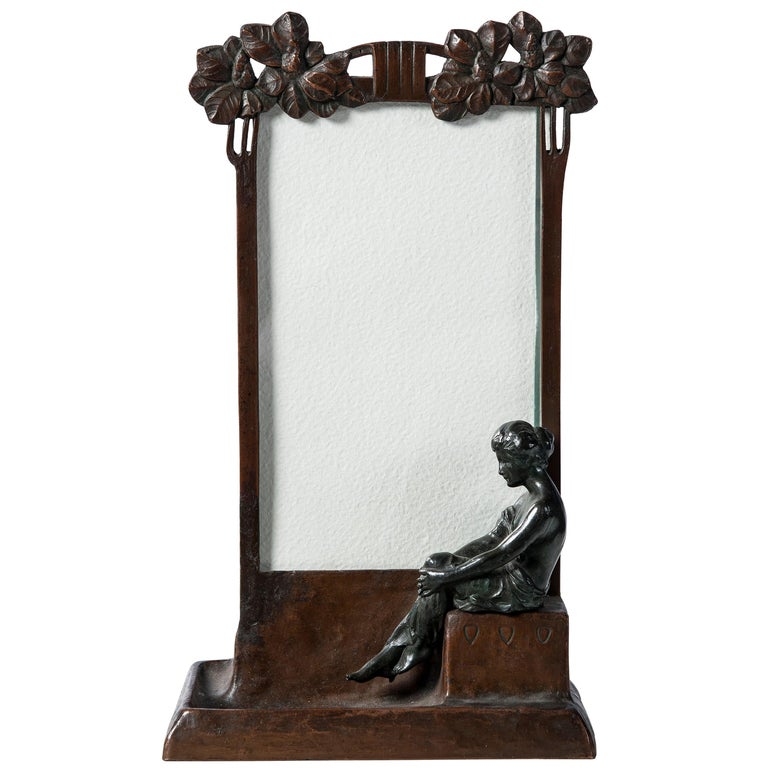 Bronze Picture Frame, Art Nouveau Period, circa 1900 For Sale