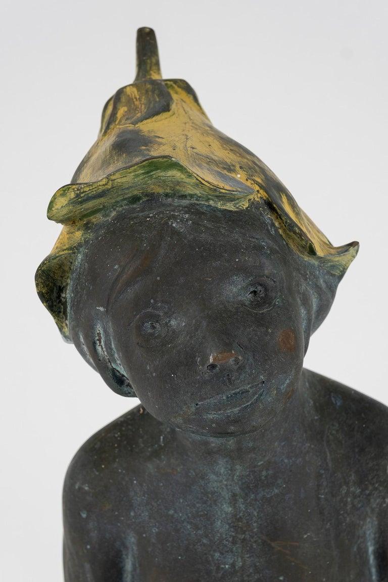 Bronze Pixie Fairy Garden Statue Fountain 1