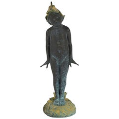 Bronze Pixie Fairy Garden Statue Fountain