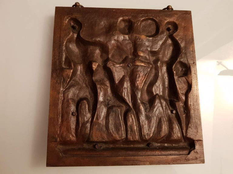 French Bronze Plaque Ferdinand Barbedienne Foundry France, 19th Century For Sale