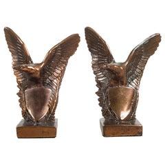 Bronze-Plated Eagle Bookends, circa 1940