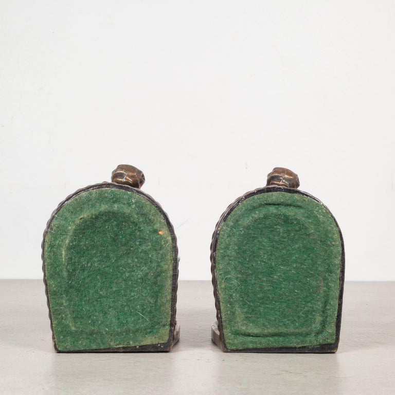 Bronze-Plated Horse Bookends, circa 1940 For Sale 1