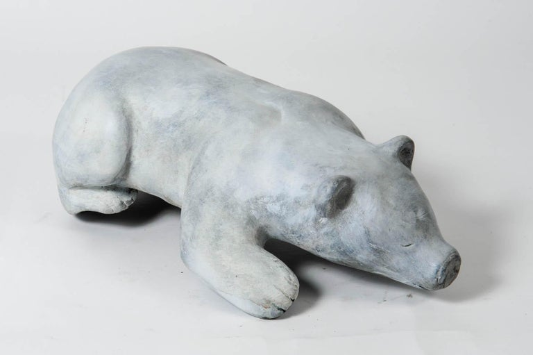 Bronze Polar Bear Signed In Excellent Condition For Sale In Bois-Colombes, FR