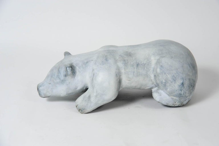 Late 20th Century Bronze Polar Bear Signed For Sale