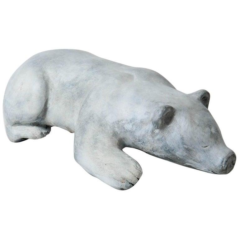 Bronze Polar Bear Signed For Sale