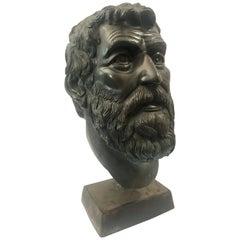 Bronze Portrait Bust of a Bearded Man
