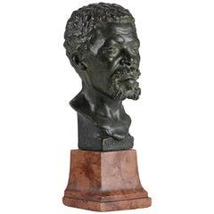 Bronze Portrait Bust of a Black Man 'Marbruk' by Arthur Kaan