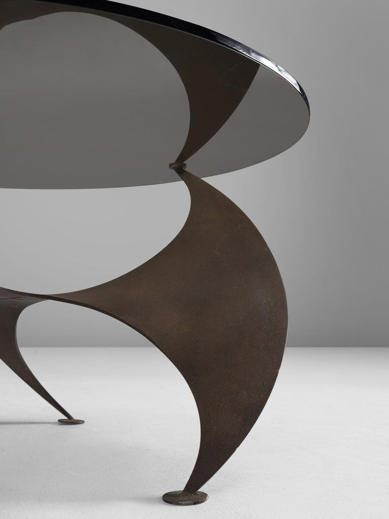 Mid-20th Century Bronze 'Propellor' Corner Table by Knut Hesterberg For Sale