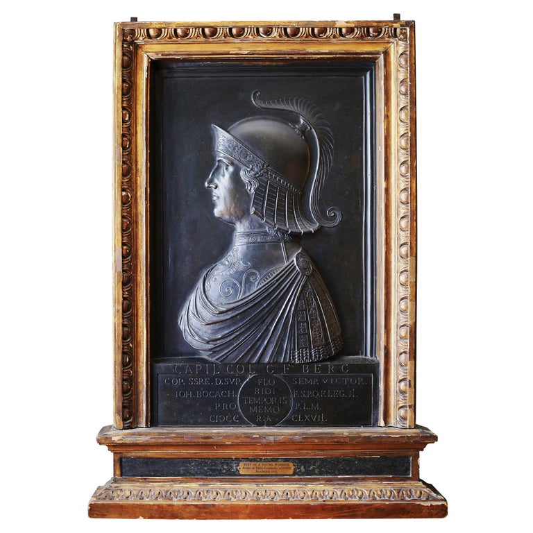 Bronze relief in giltwood frame, 1816