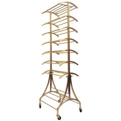 Bronze Rolling Shoe Rack