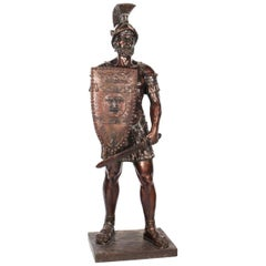 Bronze Roman Gladiator 'With Sword', Lifesize