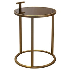 Bronze Round Side Table