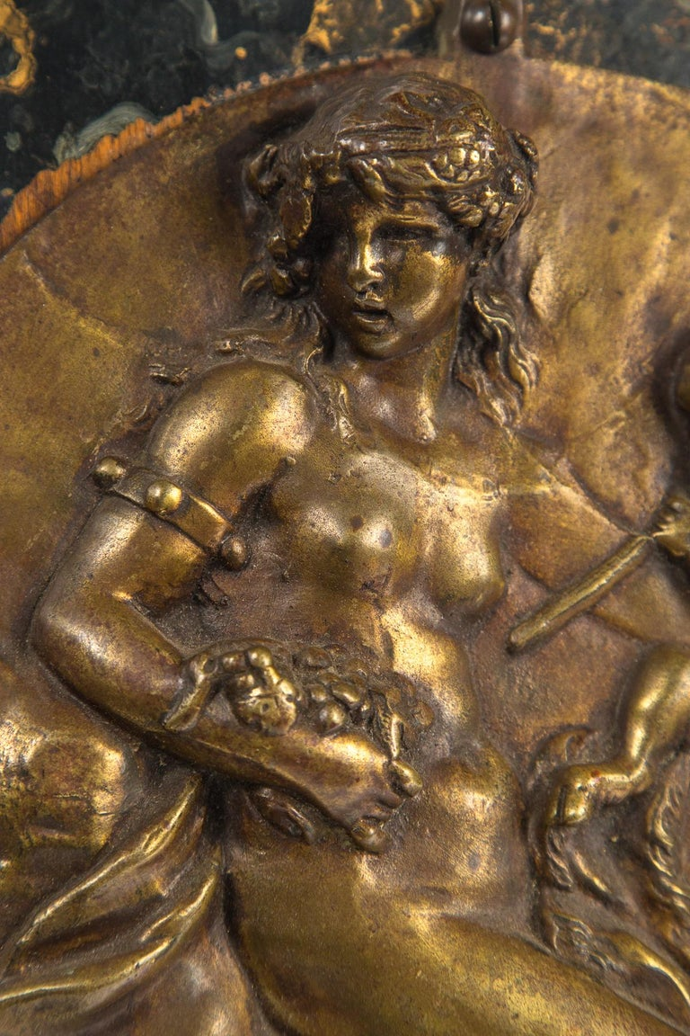 19th Century Bronze Round Wall Plaque For Sale