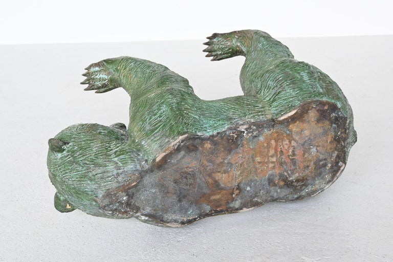 Bronze Sculptural Bear Coffee Table Hollywood Regency, Belgium, 1970 4