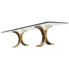 Bronze Sculptural Coffee Table France, 1970