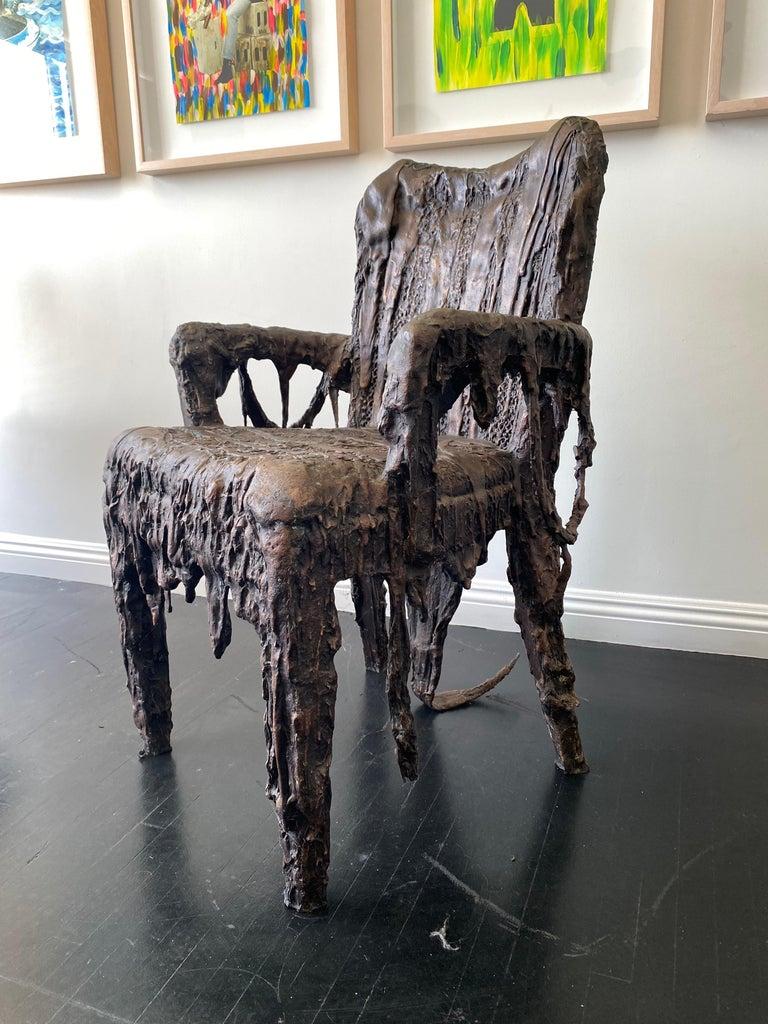 Bronze Sculptural Panama Chair, 21st Century by Mattia Biagi For Sale 1