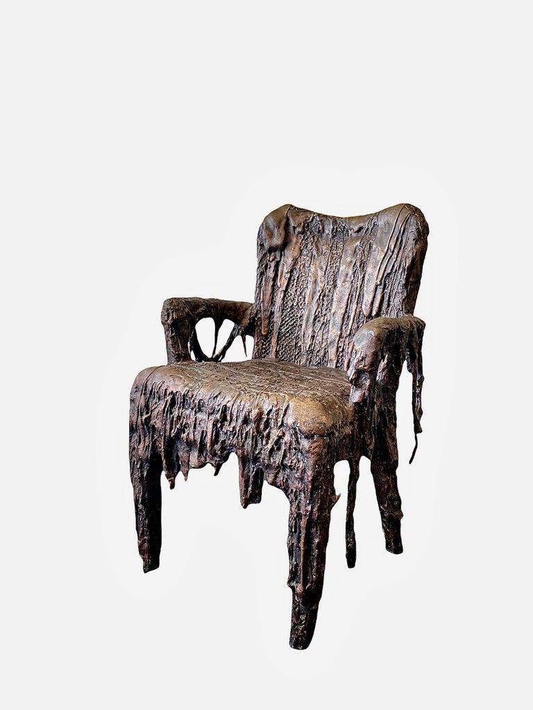 Bronze Sculptural Panama Chair, 21st Century by Mattia Biagi For Sale 2