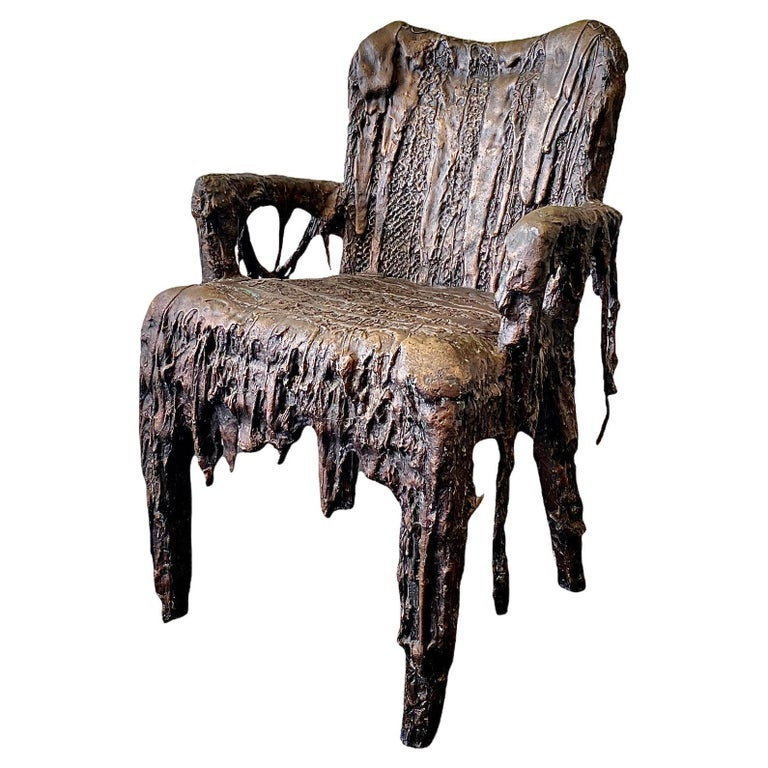 Bronze Sculptural Panama Chair, 21st Century by Mattia Biagi For Sale