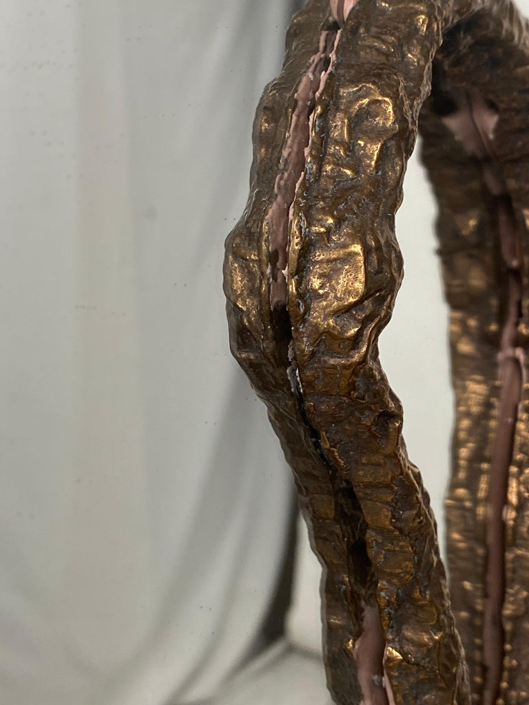 Bronze Sculptural Vanity Mirror, 21st Century by Mattia Biagi For Sale 1
