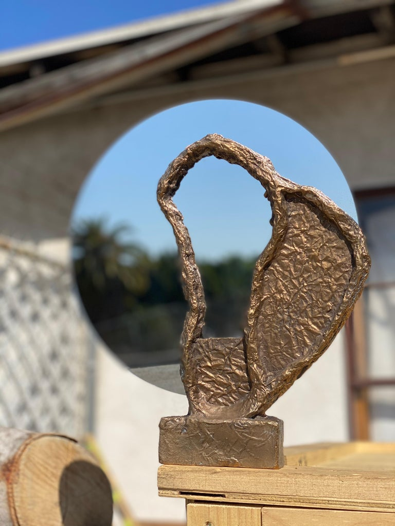 Bronze Sculptural Vanity Mirror, 21st Century by Mattia Biagi For Sale 3