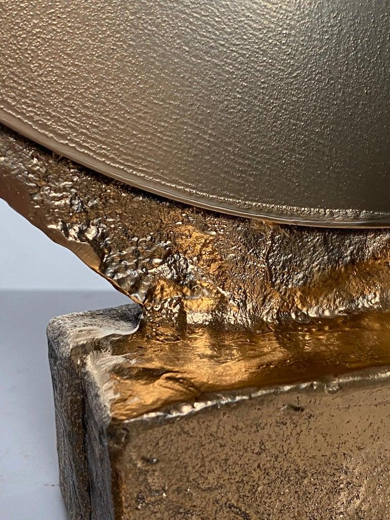Bronze Sculptural Vanity Mirror, 21st Century by Mattia Biagi For Sale 4