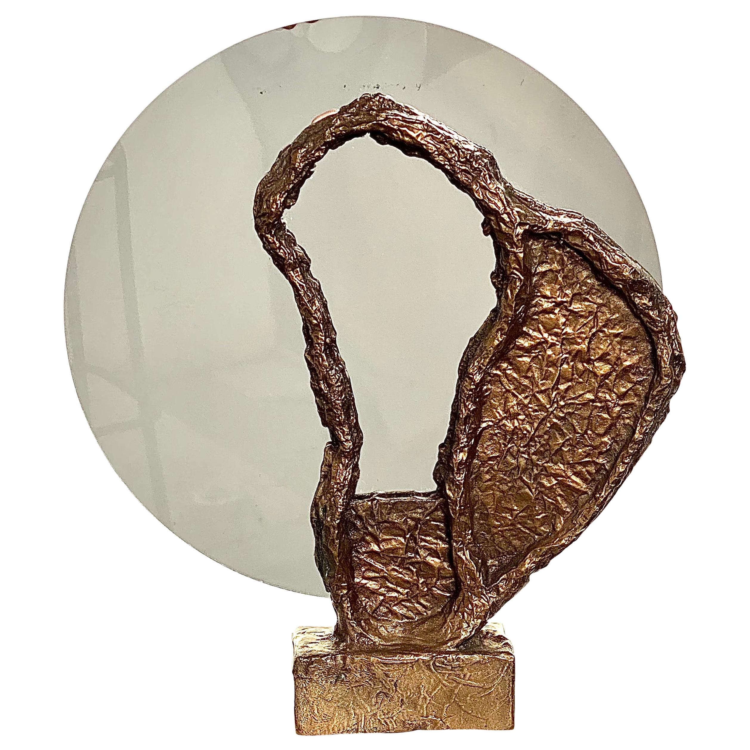Bronze Sculptural Vanity Mirror, 21st Century by Mattia Biagi