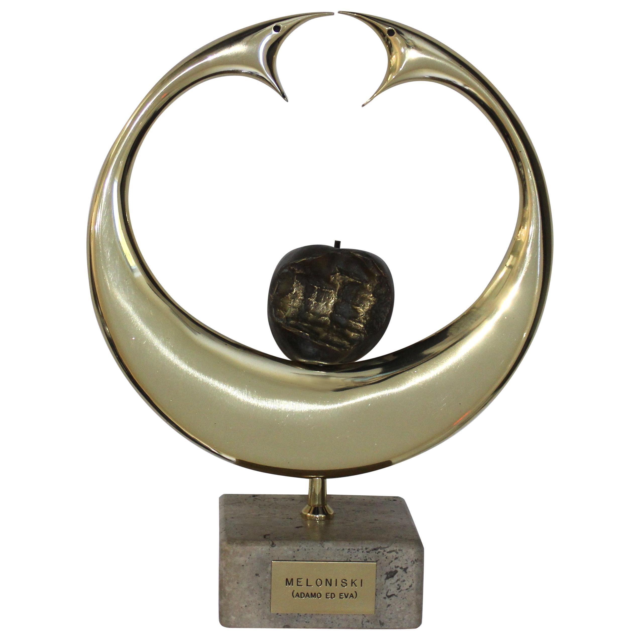 Bronze Sculpture Adam and Eve by Melonski