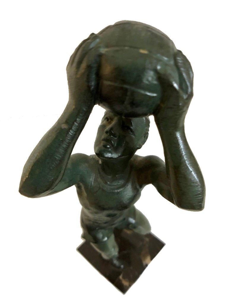 Bronze Sculpture Basketball Sportsman, Art Deco, France, 1930s For Sale 5