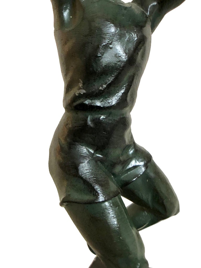 Bronze Sculpture Basketball Sportsman, Art Deco, France, 1930s For Sale 2