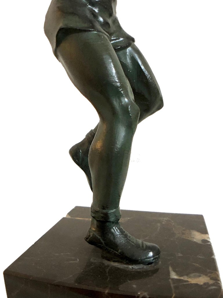 Bronze Sculpture Basketball Sportsman, Art Deco, France, 1930s For Sale 3