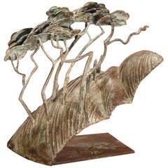 "Bronze Sculpture ""Baumgruppe"" 2000, by Kurtfritz Handel"