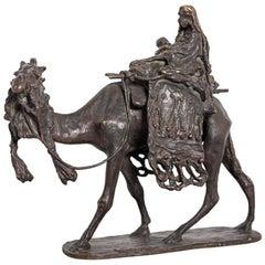 Bronze Sculpture Bedouin Maternity by Ernesto Bazzaro, 1905