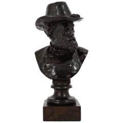 """Bronze Sculpture """"Bust of Robert E. Lee"""" by Moses Ezekiel"""