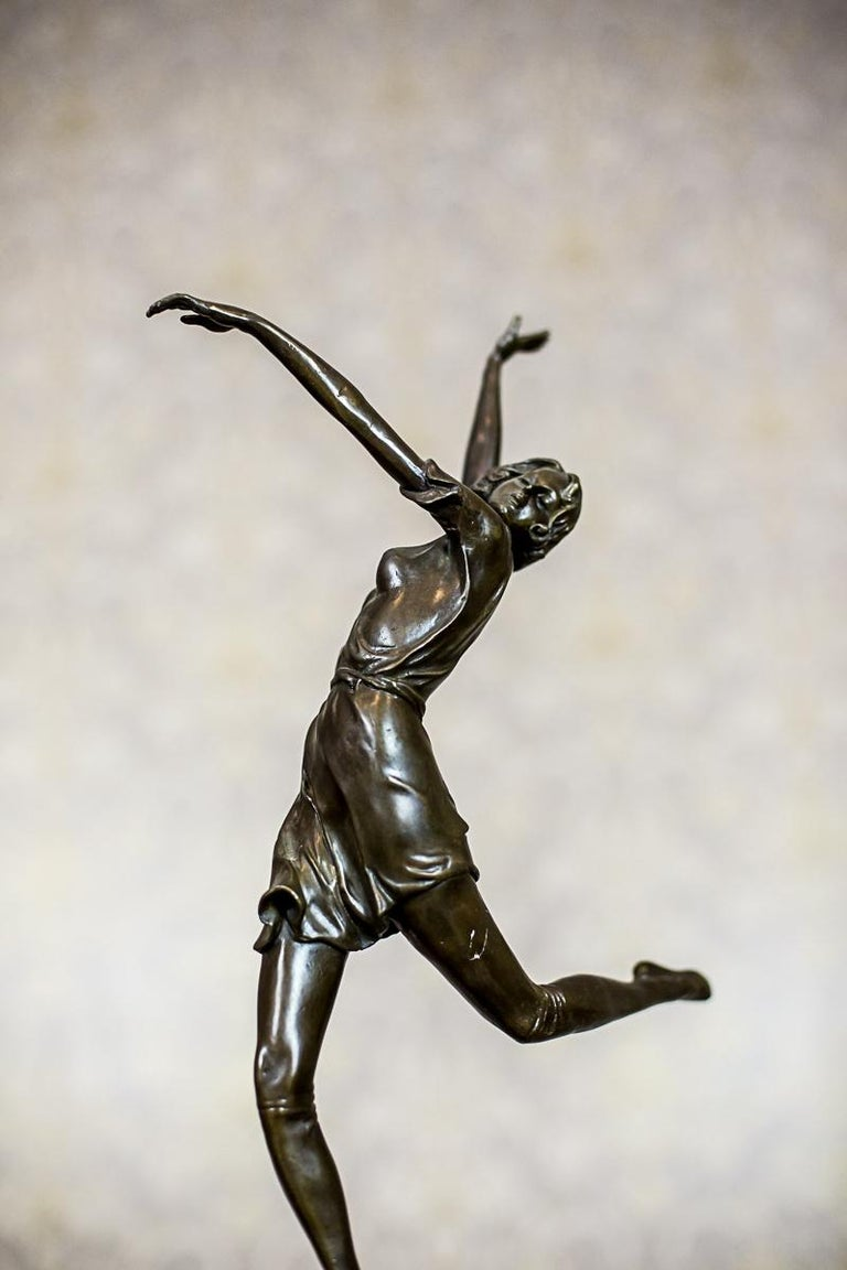 """Bronze Sculpture by Bruno Zach, """"Dancing Woman"""" For Sale 1"""