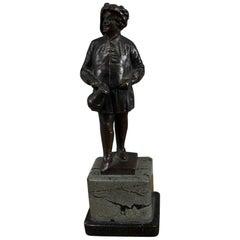 "Bronze Sculpture by Ernst Beck ""The Drinker"" or Literary Figure of Falstaff"