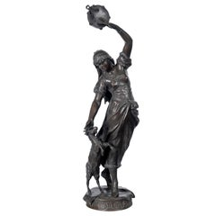 "Bronze Sculpture by Eugene Marioton, Titled, ""Esmeralda"", France, 19th century"