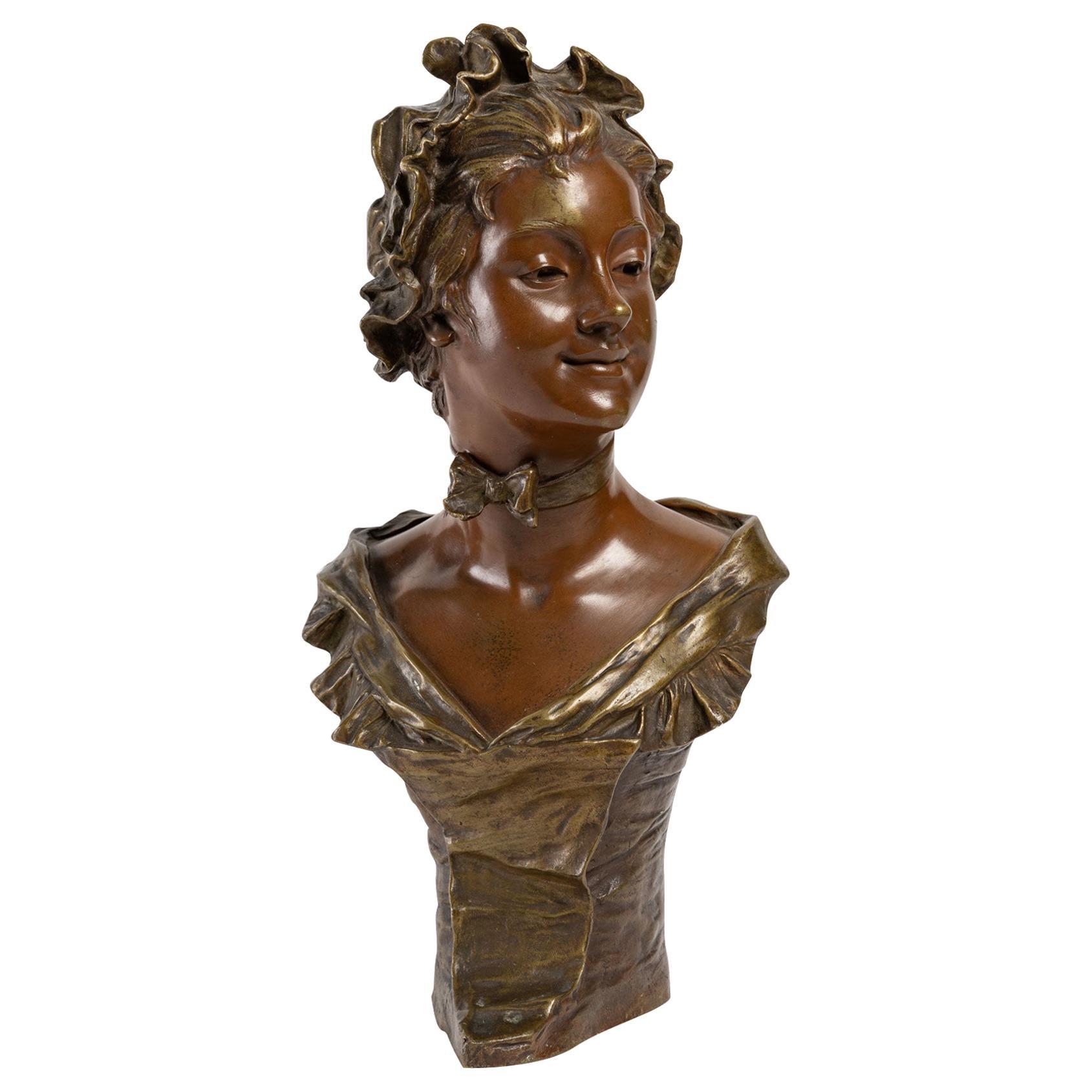 Bronze Sculpture by Georges Van Der Straeten