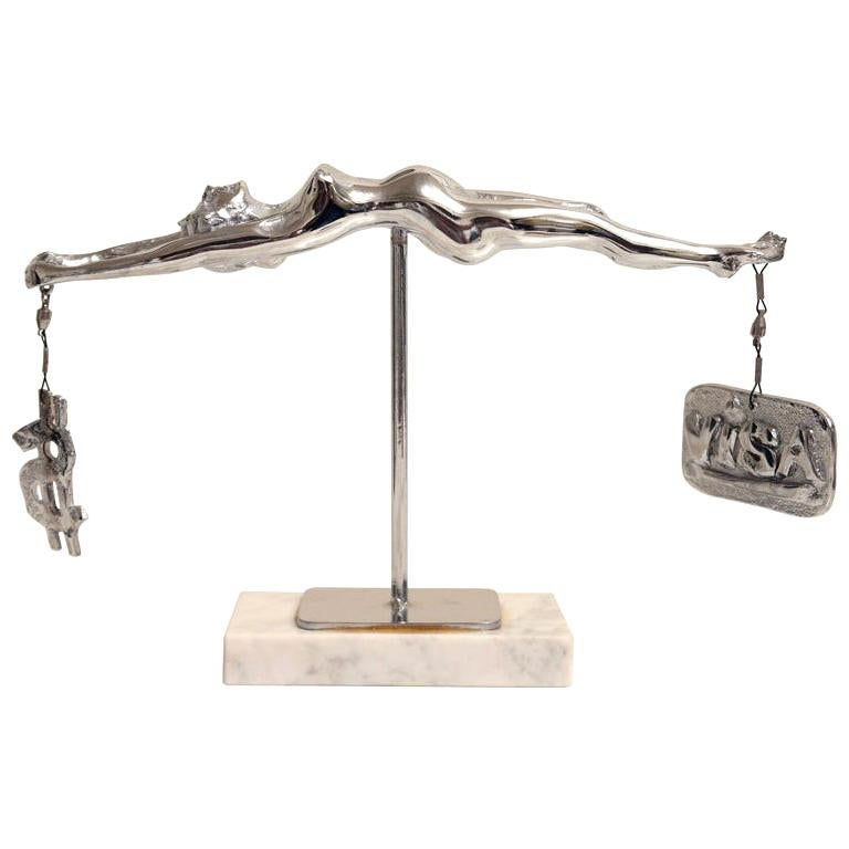 "Bronze Sculpture by James David Berenson Titled ""Temperance"" For Sale"