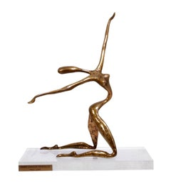 Bronze sculpture by Yves Lohe c1970