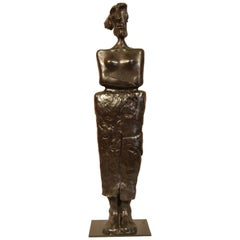 """Bronze Sculpture """"Chained woman"""" 2000, by Jacques Tenenhaus"""