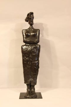 "Bronze sculpture ""Chained woman"" 2000, by Jacques Tenenhaus"