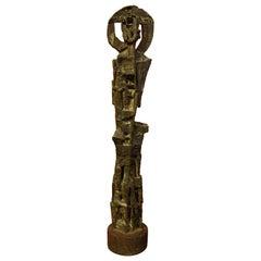 """Bronze Sculpture """"Character Haloed"""" 1950s"""