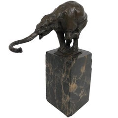 Bronze Sculpture Elephant by Carvin, Art Deco, France, 1930s