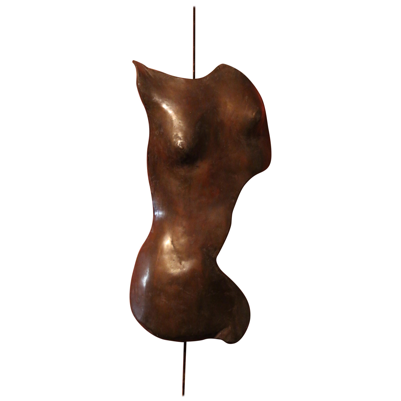 """Bronze Sculpture """"Female Bust"""" by Céline Chalem"""