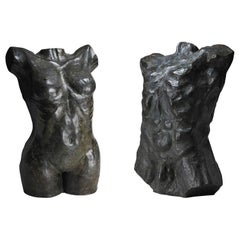 "Bronze Sculpture ""Female & Male nude"" by Hubert Yencesse"