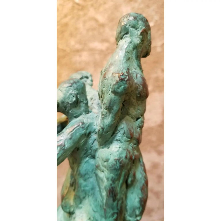 20th Century Bronze Sculpture Figures and Hand For Sale