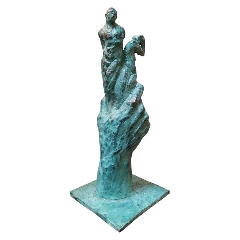Bronze Sculpture Figures and Hand For Sale