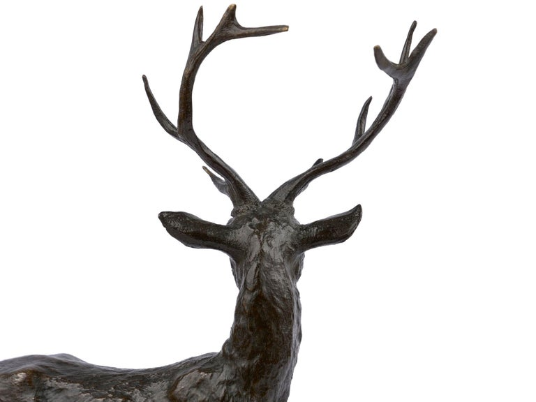 "Bronze Sculpture Group ""Family of Deer"" by Christophe Fratin & Debraux Foundry For Sale 10"