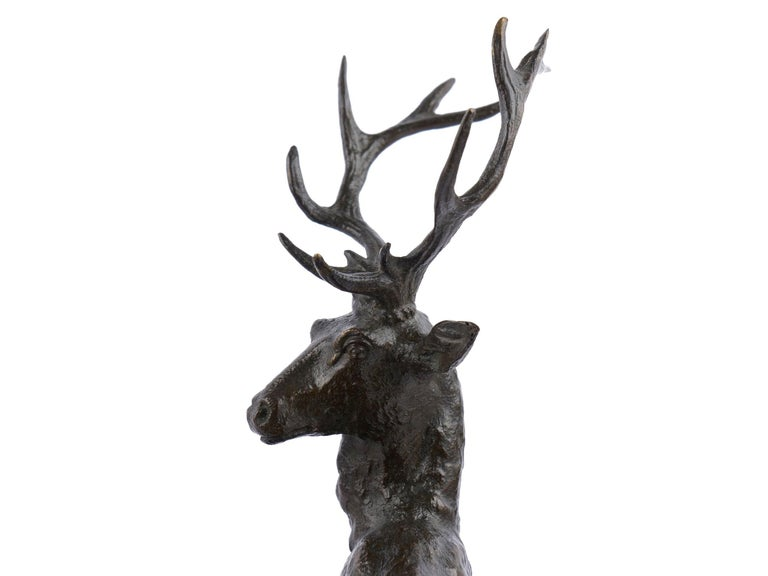 "Bronze Sculpture Group ""Family of Deer"" by Christophe Fratin & Debraux Foundry For Sale 2"