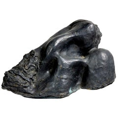 "Bronze Sculpture ""Head resting on the Shoulder"" by Michel Warren"